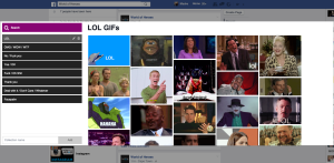 Facebook GIF Button extension pop-up